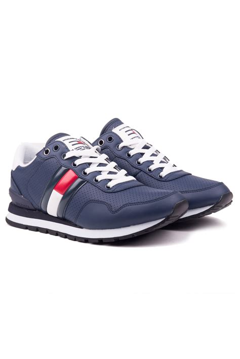 Tommy Hilfiger blue men´s leather sneakers Lifestyle Tommy