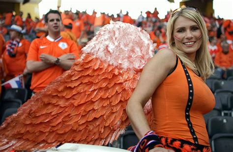 belle supportrice pays-bas Coupe du Monde 2014 - Football
